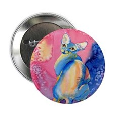 "Sphynx Cat 2 2.25"" Button (10 pack)"