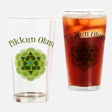 Tikkun Olam Recycle Drinking Glass