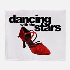 dancing with the stars - red shoe Throw Blanket