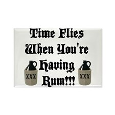 Time Flies When You're Having Rum!!! Rectangle Mag