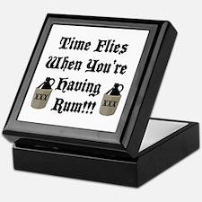 Time Flies When You're Having Rum!!! Keepsake Box