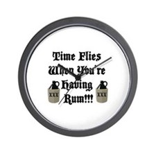 Time Flies When You're Having Rum!!! Wall Clock