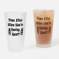 Time Flies When You're Having Rum!!! Drinking Glas