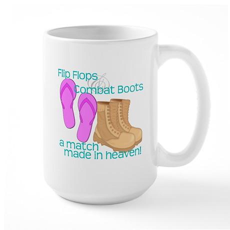 Flip Flops Combat Boots Mug