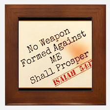 Isaiah 54:17 Framed Tile