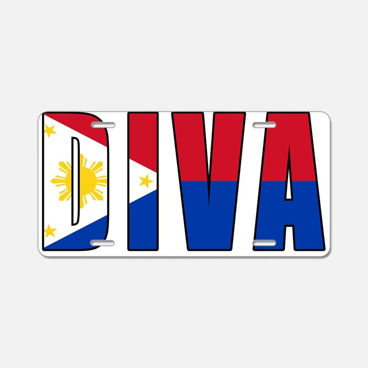DIVA FILIPINO Aluminum License Plate