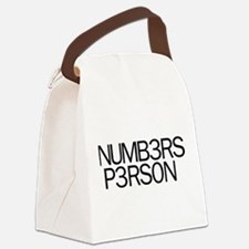Numbers Person Canvas Lunch Bag