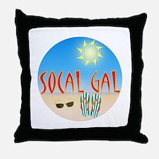 Socal Gal Throw Pillow