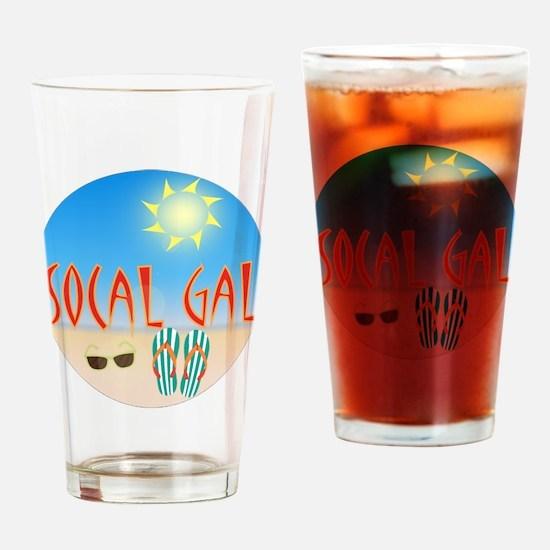 Socal Gal Drinking Glass