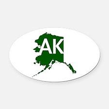 AK Oval Car Magnet