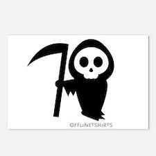Cute Grim Reaper Postcards (Package of 8)