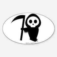 Cute Grim Reaper Sticker (Oval 10 pk)