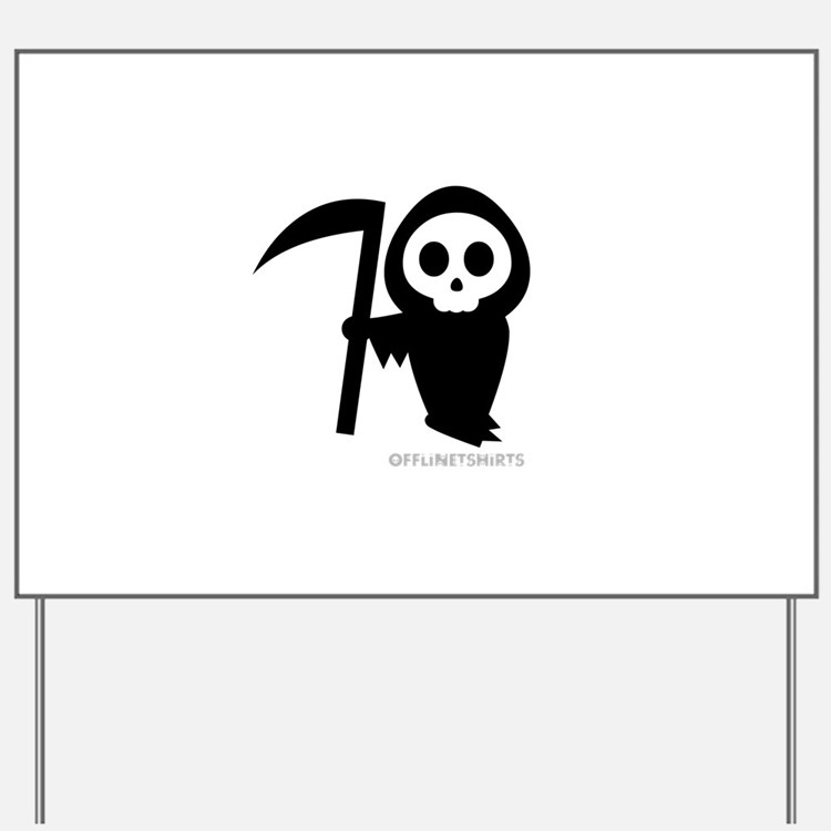 Cute Grim Reaper Yard Sign