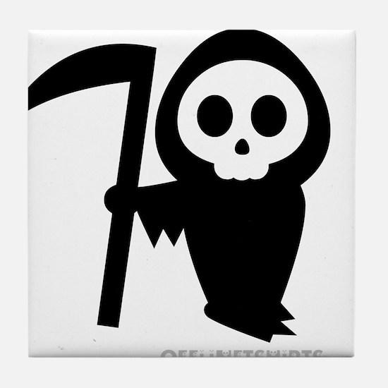 Cute Grim Reaper Tile Coaster