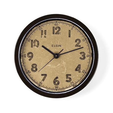 Elgin vintage dieselpunk wall clock