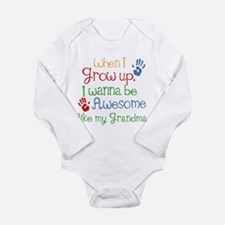 Awesome Like My Grandma Long Sleeve Infant Bodysui