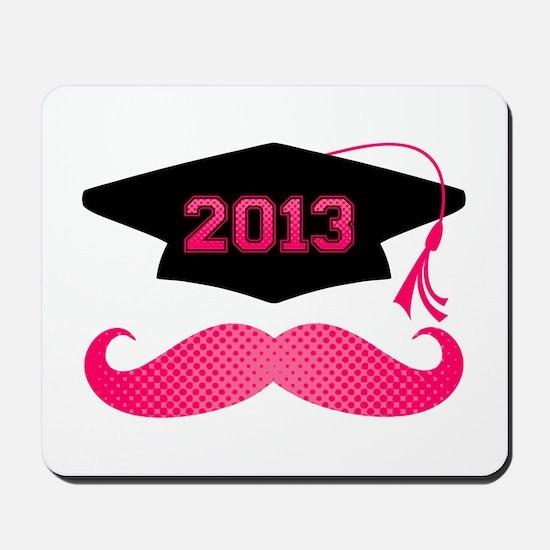 Pink Mustache Grad 2013 Mousepad