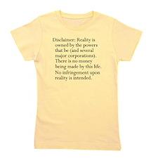 Standard Disclaimer Girl's Tee