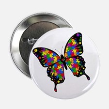 "Autism Butterfly 2.25"" Button"