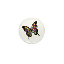 """Autism Butterfly 1"""" Mini Button (10 pack)"""