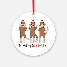 Monkey Business Ornament (Round)