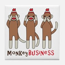Monkey Business Tile Coaster