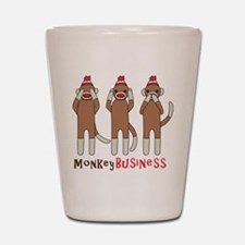 Monkey Business Shot Glass