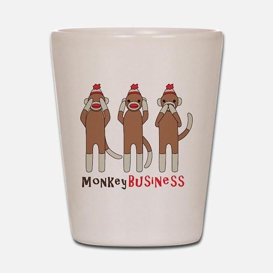 Monkey Business Shot Glass
