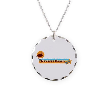 Navarre Beach - Beach Design. Necklace Circle Char