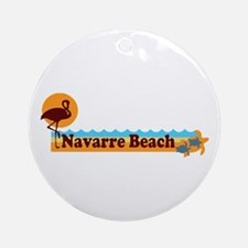 Navarre Beach - Beach Design. Ornament (Round)
