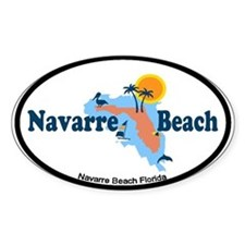 Navarre Beach - Map Design. Decal