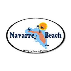 Navarre Beach - Map Design. Wall Decal