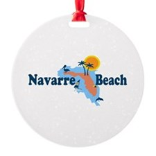 Navarre Beach - Map Design. Ornament