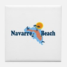 Navarre Beach - Map Design. Tile Coaster