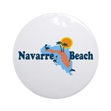 Navarre Beach - Map Design. Ornament (Round)