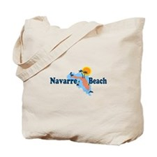 Navarre Beach - Map Design. Tote Bag
