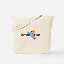 Navarre Beach - Map Design. Tote Bag