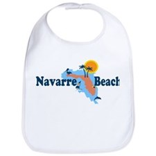 Navarre Beach - Map Design. Bib