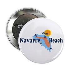 "Navarre Beach - Map Design. 2.25"" Button"