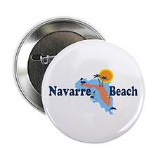 "Navarre Beach - Map Design. 2.25"" Button (10 pack)"