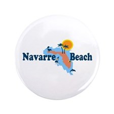 "Navarre Beach - Map Design. 3.5"" Button"