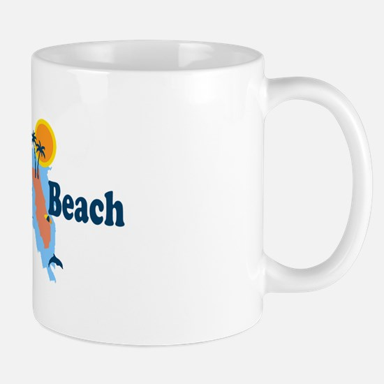 Navarre Beach - Map Design. Mug