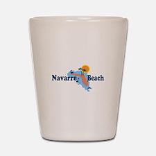 Navarre Beach - Map Design. Shot Glass