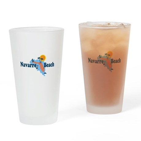 Navarre Beach - Map Design. Drinking Glass