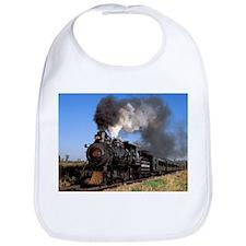 Antique steam engine train Bib