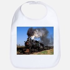 Antique steam engine train Bib
