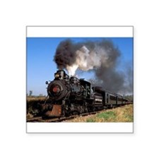 Antique steam engine train Sticker