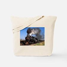 Antique steam engine train Tote Bag