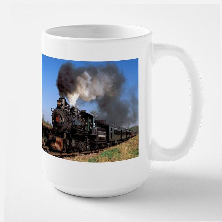 Antique steam engine train Mug