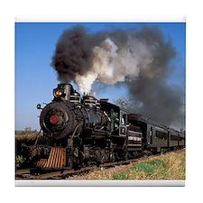 Antique steam engine train Tile Coaster